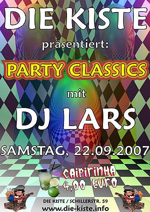 Party Classics mit DJ Lars am Sa. 22.09.2007