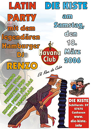 Latin Party mit DJ Renzo, Sa. 18.03.2006