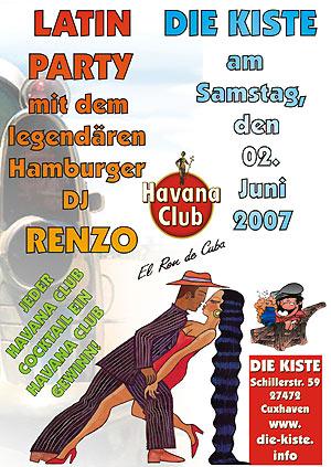 Latin Party mit DJ Renzo, Sa. 02.06.2007