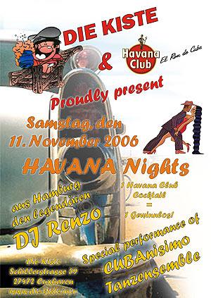 Havana Nights mit DJ Renzo, Sa. 11.11.2006
