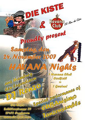 Havana Nights mit DJ Renzo, Sa. 24.11.2007
